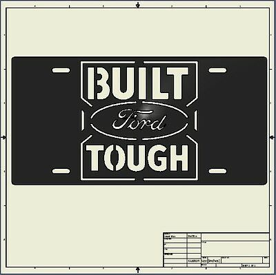cnc dxf file ( licence_plate_built_ford )