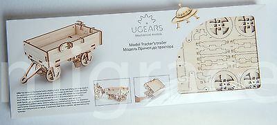UGears * TRAILER * Self-propelled mechanical wooden model KIT 3D puzzle Assembly