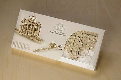 UGears * TRAM with RAILS * Self-propelled mechanical wooden model KIT 3D puzzle