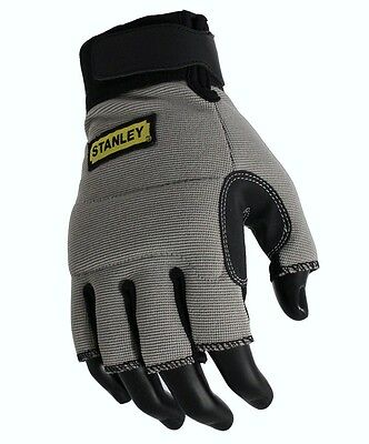 STANLEY FINGERLESS SAFETY WORK GLOVES, SY640L Large Size 10