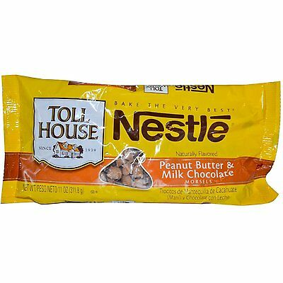 Nestle Toll House Peanut Butter & Milk Chocolate Morsels Baking Chips ~ 11 oz.