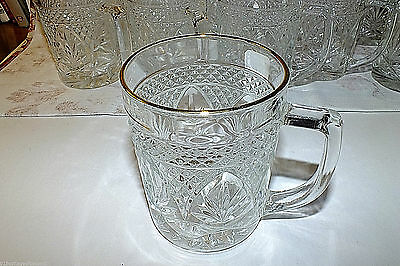 CRISTAL D'ARQUES LUMINARC ANTIQUE GOLD clear MUG (11 available price for one)