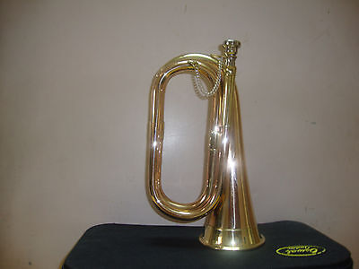 Great Sale! New Excellent Scout,army,cadet, Militaria Bugle With Free Case+M/p