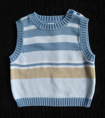 Baby clothes BOY 3-6m NEXT sleeveless sweater blue/beige COMBINE POST SEE SHOP!