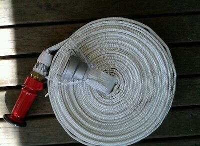 Fire hose CRUSADER HOSE kit 25mm hose x 20m with nozzle and wajax coupling X2