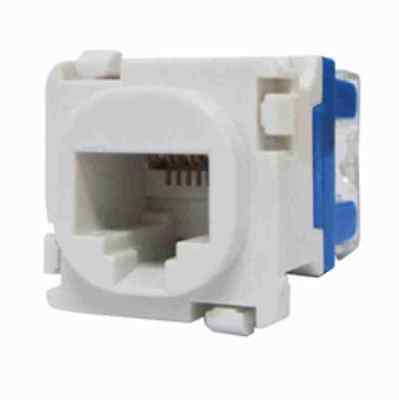 10 x CLIPSAL COMPATIBLE CAT6 RJ45 Data Inserts Jacks - Mech
