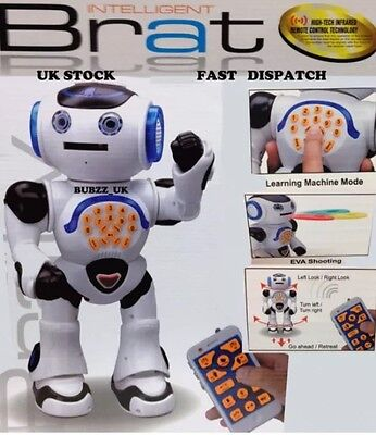 Intelligent Walking And Talking  Robot with Remote Control for Kids FUN-TOY GIFT