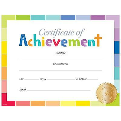 Painted Palette Certificate of Achievement Large Award - Classroom Rewards