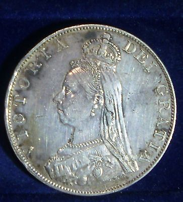 UK (Great Britain)  1887 Double Florin ,ROMAN I