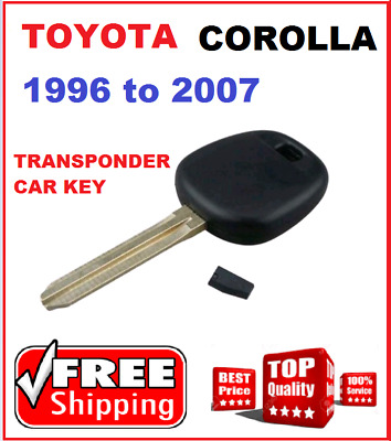4C Toyota Corolla Car Key 1996 1997 1998 1999 2000 2001 2002 2003 2004 2005 2007