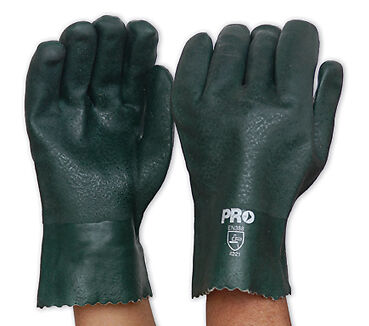 Prochoice Green PVC Glove Double Dipped - Short