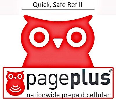 PagePlus $10 Refill -- 100 minutes / 120 Days, Fast & Right