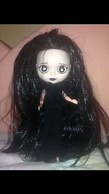 Bambola Blythe Factory  clone custom Doll BABY MORTICIA ADDAMS HALLOWEEN