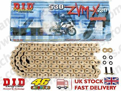 DID Gold Super Heavy Duty X-Ring Motorcycle Chain 530ZVMX GG 108 Rivet Link