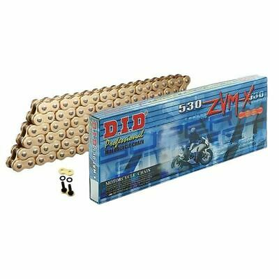 DID Gold Super Heavy Duty X-Ring Motorcycle Chain 530ZVMX GG 104 Rivet Link