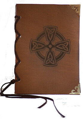 Medieval-Larp-Pagan-Reenactment-Scribe sets-Notebook-Spells-LEATHER CELTIC BOOK