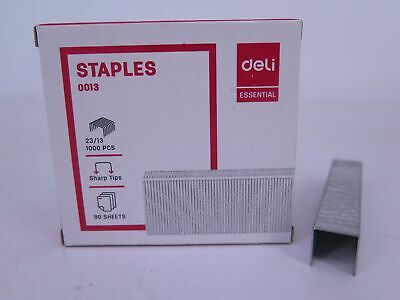 1 x 23/13 Heavy Duty Staples (1000/Box) Deli 0013