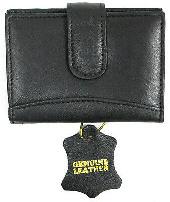 Soft Leather Credit Card/Business Card Wallet ID Holder with 30pc Clear Insert