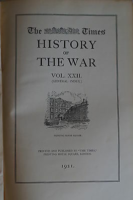 WW1 British The Times History of the War Volume XXII Reference Book