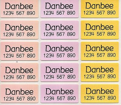 Medium 3-Colours Personalised IRON on Clothing Name Labels, size 30x15mm