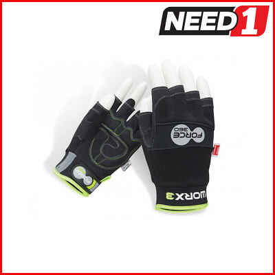 Force360 Worx 3 Original Mechanics Fingerless Safety Glove