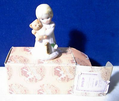 1981 Enesco Growing Up Girls Blonde Figurine Age 1 E-2301