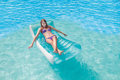 """New Intex Pool Lounge  - Inflatable Swimming Floating Chair """"ROCKIN LOUNGE"""""""