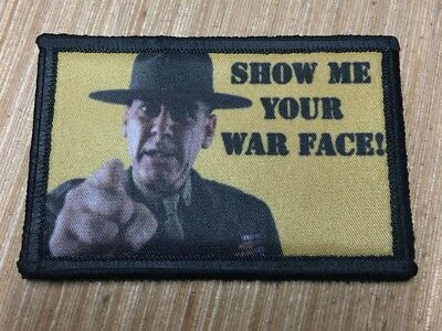 R Lee Ermy Full Metal Jacket Movie Morale Patch Tactical ARMY Hook Military USA