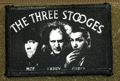 3 Stooges Morale Patch Tactical Military USA Hook Badge Army Flag