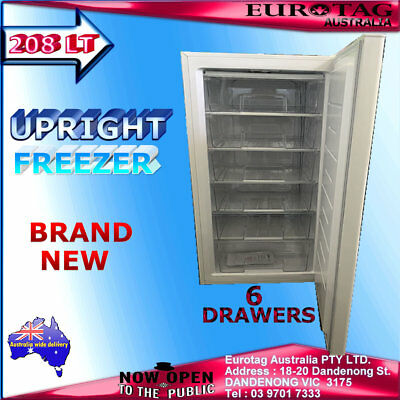 Eurotag 208 Lt Upright Vertical Freezer (Brand New) 1 Year  Warranty