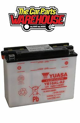 YB16AL-A2 Genuine Yuasa Motorcycle ATV Quad Buggy Battery xX With Acid Pack Xx