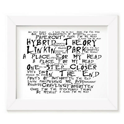 `Noir Paranoiac` LINKIN PARK Art Print Typography Album Lyrics Signed Poster