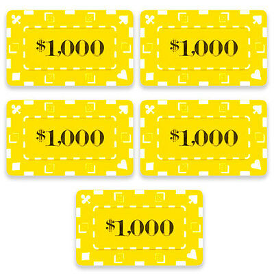 32G Poker plaques - 5x chips, $1,000 casino high stakes baccarat mahjong