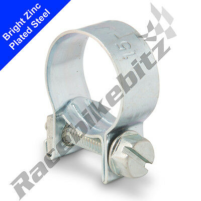 Zinc Plated Mini Hose Clamps Jubilee Clips Pipe Nut Petrol Diesel Fuel