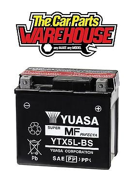 YTX5L-BS Genuine Yuasa Motorcycle ATV Quad Buggy Battery xX With Acid Pack Xx