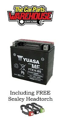 YTX14-BS Genuine Yuasa Motorcycle ATV Quad Buggy Battery xX With Acid Pack Xx