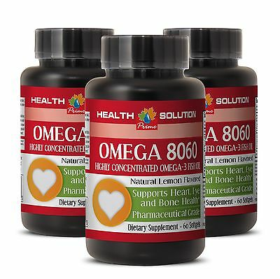 Eye Health Product of Norway - Omega 3 Fish Oil OMEGA 8060 3 Bottles