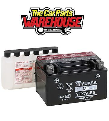 YTX7A-BS Genuine Yuasa Motorcycle ATV Quad Buggy Battery xX With Acid Pack Xx