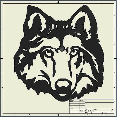 Dxf File ( wolf_head )