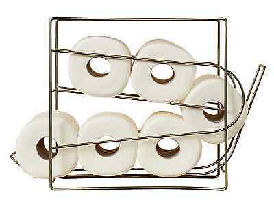 Mesh Rolling Bathroom Toilet Tissue Paper Holder Shelf Cabinet Storage Dispenser