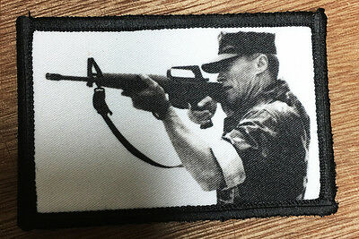 Heartbreak Ridge Movie B&W Marines Morale Patch Tactical Military USA Hook Badge
