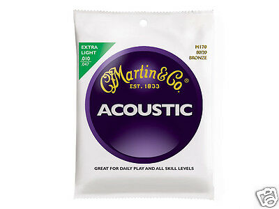 Martin & Co. M170 Extra Light strings for acoustic guitar corde per chitarra 1pc