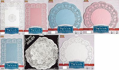 Paper lace doilies for party cake plates and trays round and rectangular vintage