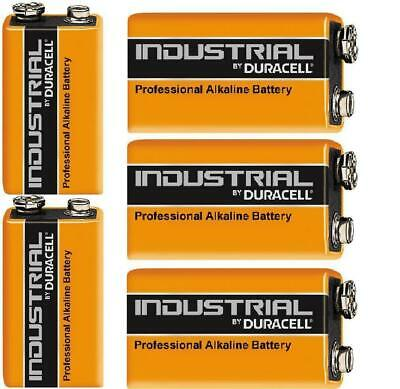 5X Duracell Industrial Procell Batteries MN1604, Smoke Alarm LR22 BLOCK 9V PP3