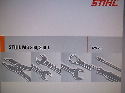 STIHL MS200, MS200T Chainsaw Factory Service Manual