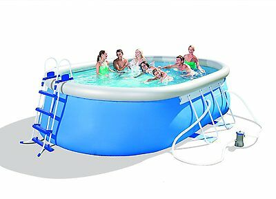 """Bestway Oval Frame Inflatable Pool 10ft x 16ft x 42"""" - 56447"""