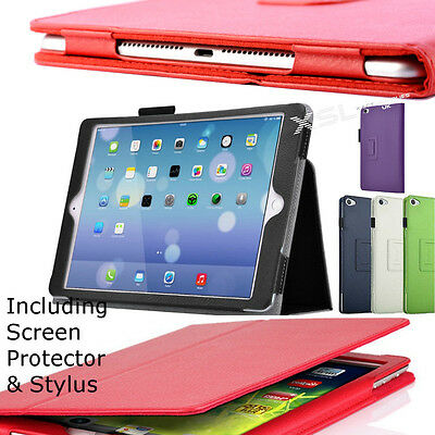 Smart Case Cover Stand + Screen Protector + Stylus for All iPad Pro / Air / Mini