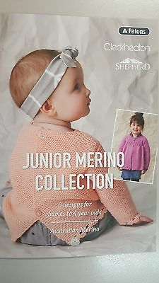 Unique Knitting Pattern Book #355 Junior Merino Collection 9 Designs to Knit