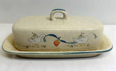 Marmalade International China Covered Butter Dish 2 Piece Geese Pattern