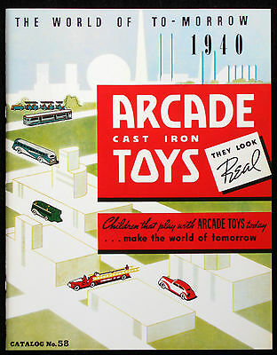 1940 Arcade Cast Iron Toy Catalog #58 (Ny World's Fair) - Top Quality Lithograph